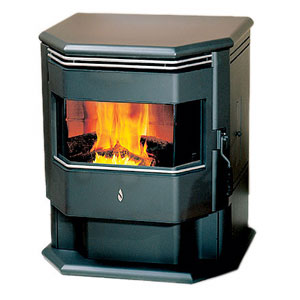 Wood-Pellet-Stove-and-Iron-Fire-Basket